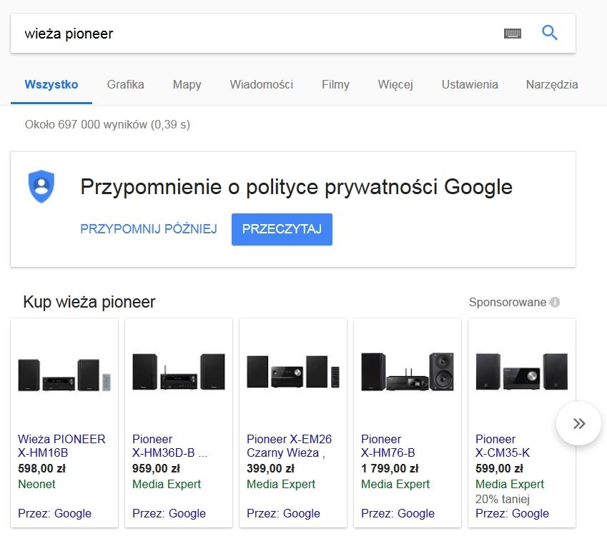 google zakupy promocja sklepu internetowego